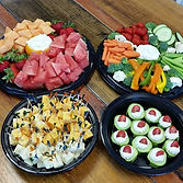 Our fruit trays, veggie trays, cucumber