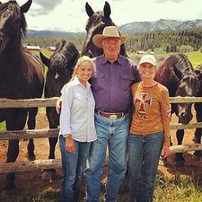 With Joe Ricketts at Jackson Fork Ranch - Jackson Hole, Wyoming with Percheron Draft Horses
