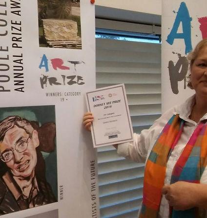 Sandy Hardwick receiving award