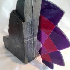 Art Deco Fused glass Fan