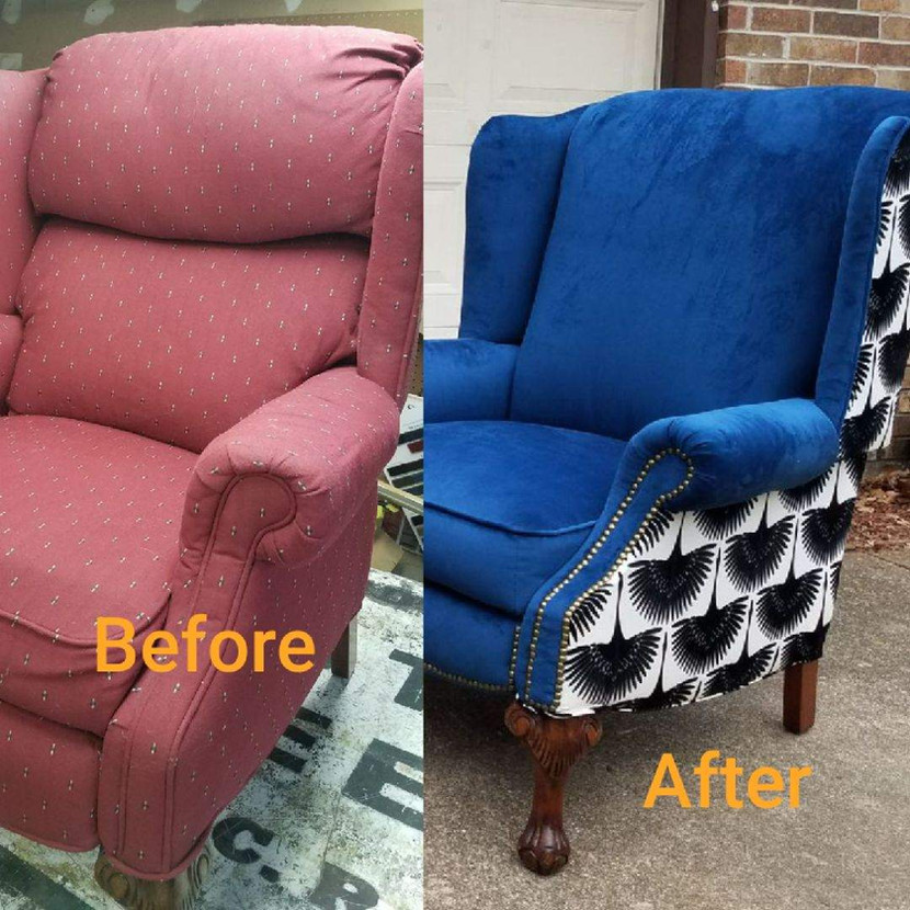 Fort Worth wingback chair upholstery