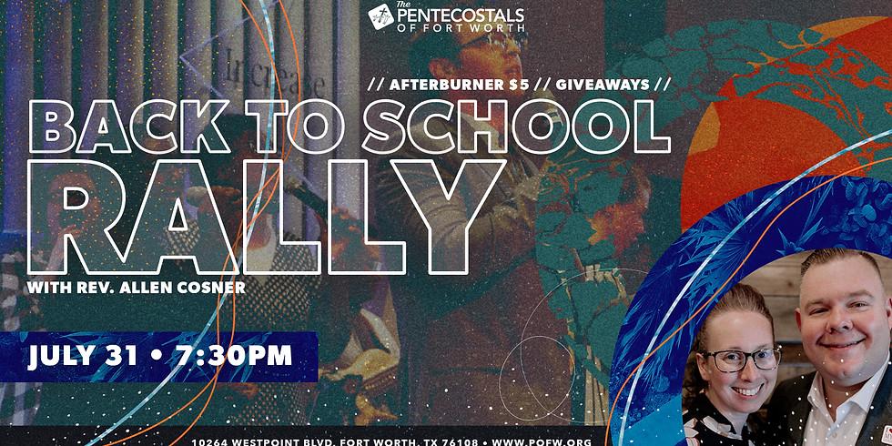 Back to School Rally with Rev. Allen Cosner