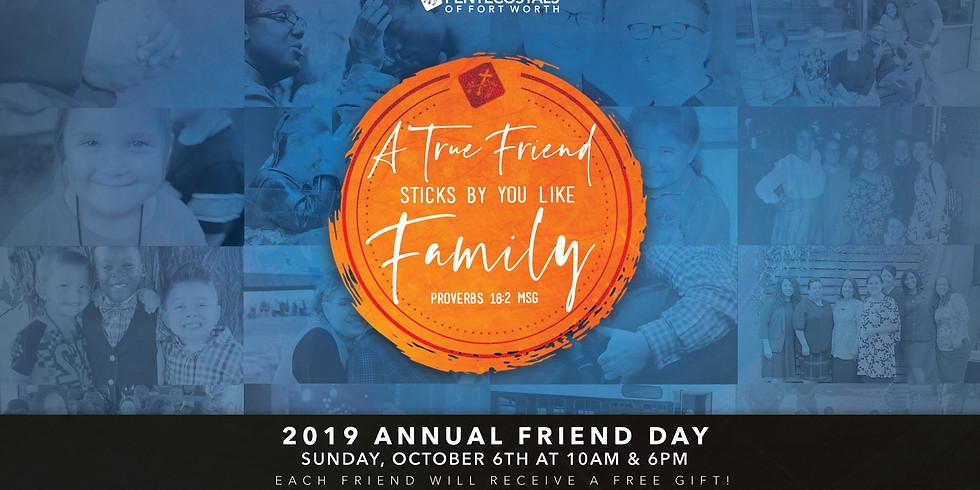 2019 Annual Friend Day