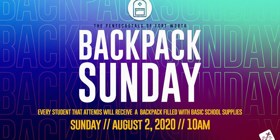 Backpack Sunday