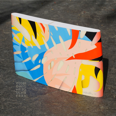 Abstract Floral board slice