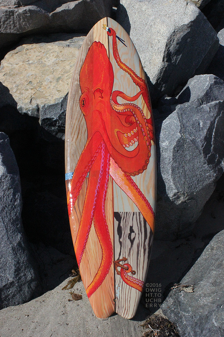 Octopus on Wood