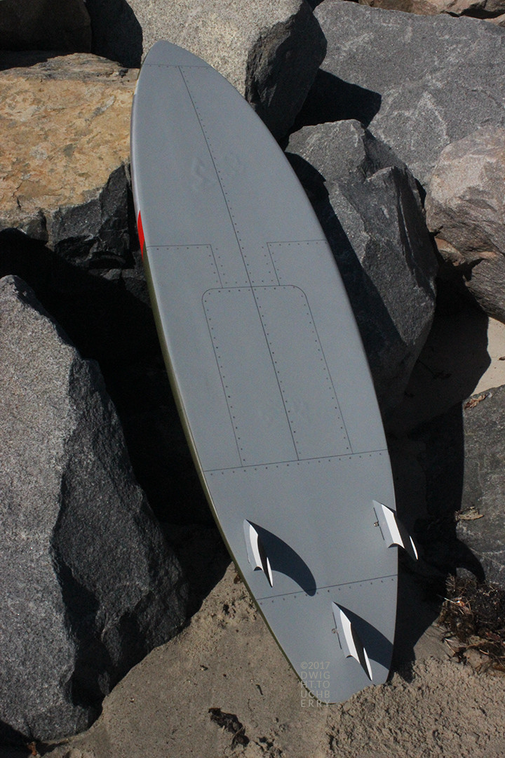 Bottom of Lead Sled P-51 Mustang board