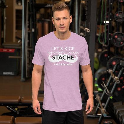 """Kick """"Pancreatic Cancer"""" Stache Short-Sleeve Unisex T-Shirt"""