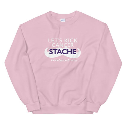 "Kick ""Cancer"" Stache Unisex Sweatshirt"