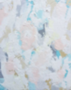 all is calm pastel acrylic on canvas blue pink yellow grey white