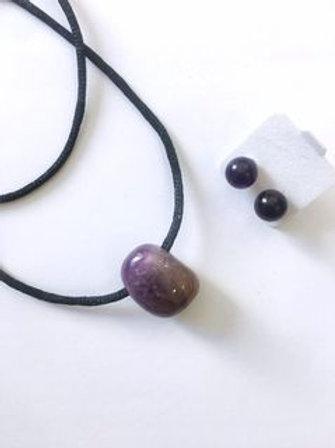 Collana + orecchini in pietre naturali