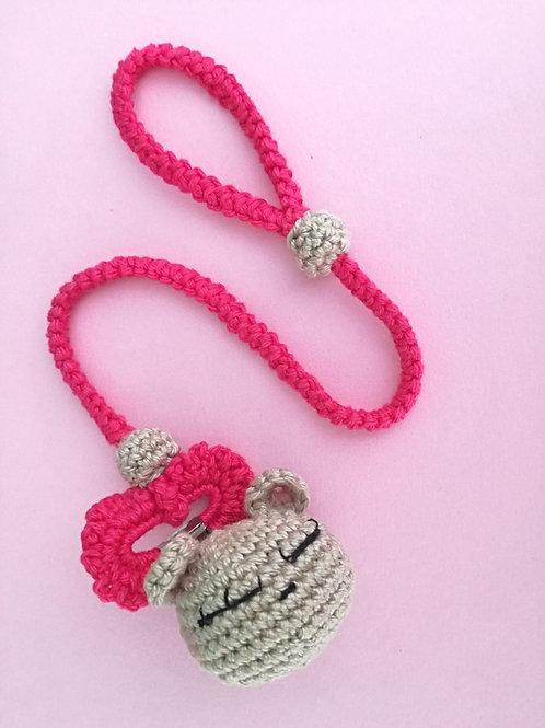🎀 Portaciuccio in rosa con Orsetto 🐻 - 100% HANDMADE