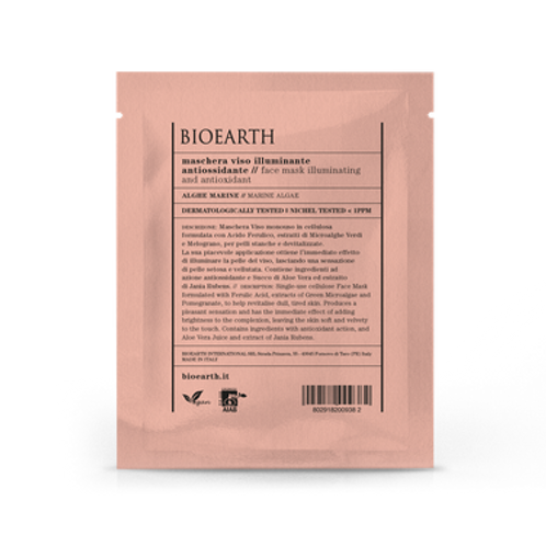Maschera in tessuto illuminante/antiossidante - Bioearth