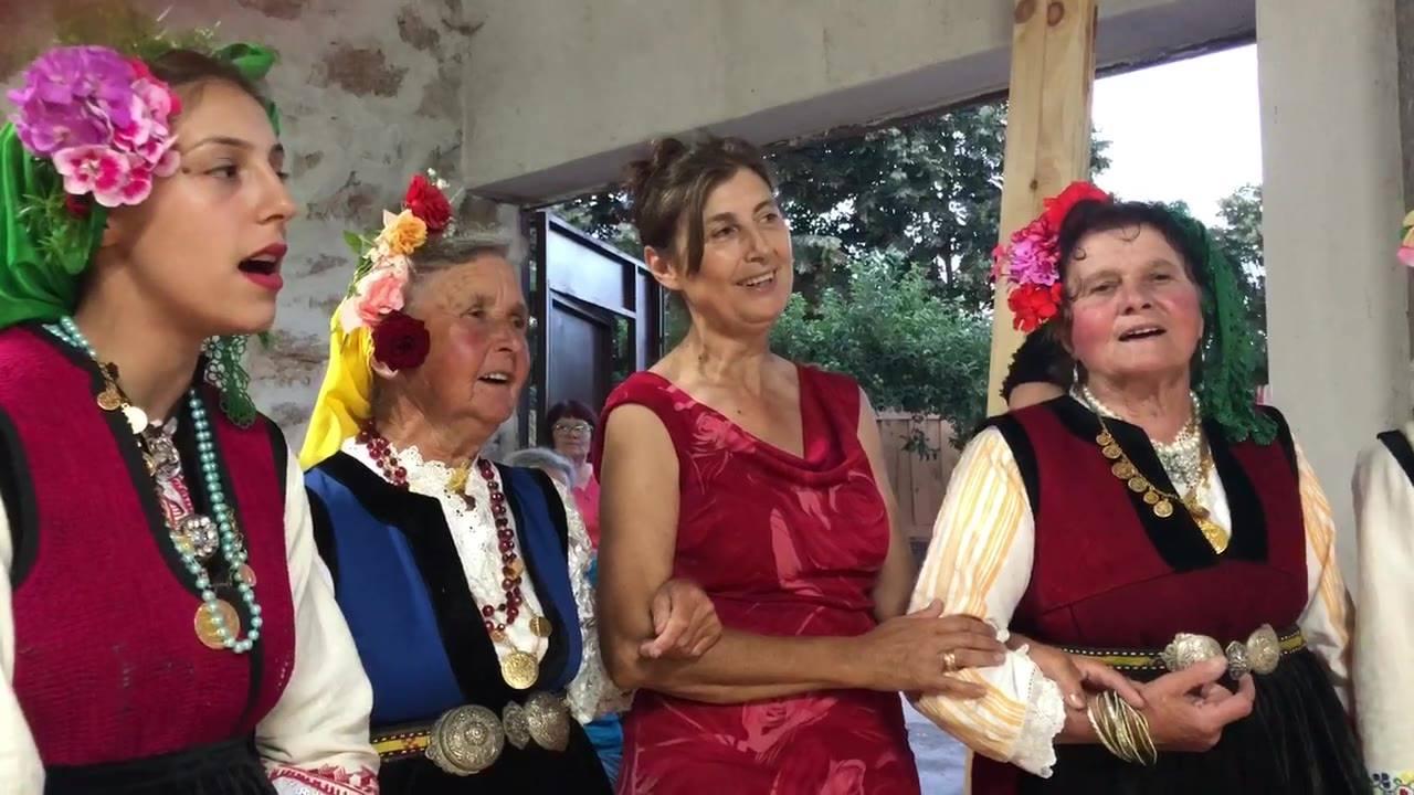 Donka Koleva singing with Kliment Folklore Group