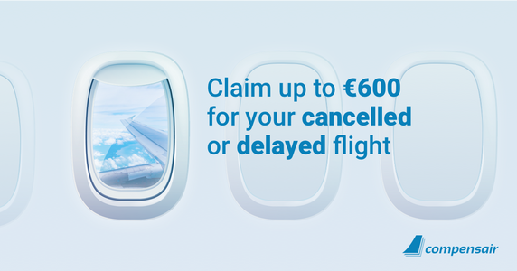 Get up to 600euros for your cancelled or delayed flight!