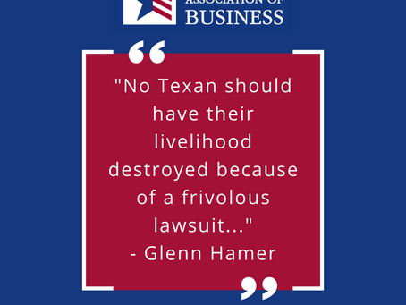 TAB Applauds Abbott, Hancock and Leach for Fighting to Protect Businesses from Frivolous Lawsuits
