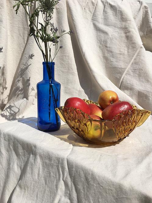 BCC - Vintage Orange Glass Fruit Bowl