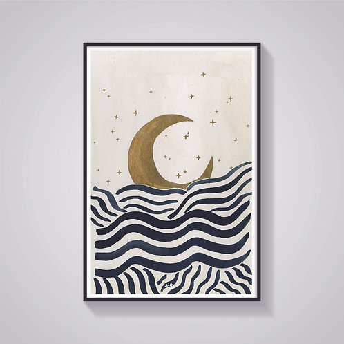 Nicola Rusted - 'Moon' Art Print