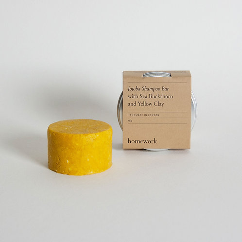 Homework - Jojoba Shampoo Bar with Sea Buckthorn and Yellow Clay