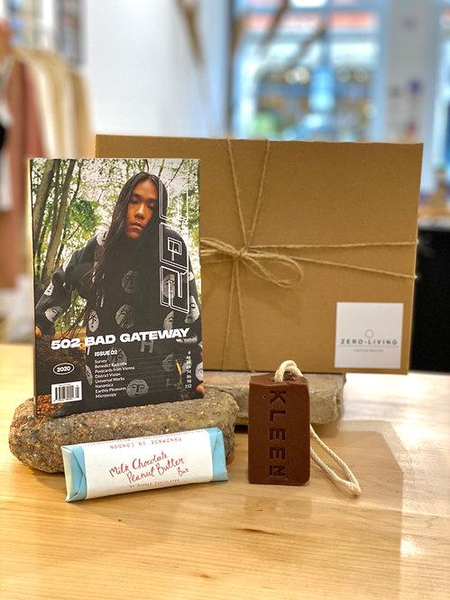 Sustainable Lifestyle Gift Box - Mag, Wash + Choc