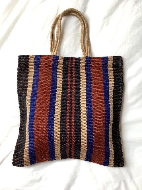 Zero-Living x Maison Bengal - Fair-trade Handloom Jute Stripe Bag