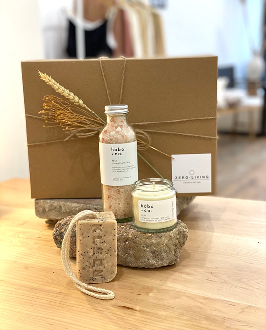 Sustainable Lifestyle Gift Box - Bath, Smell + Light