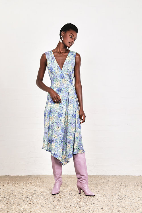 Jasmiin The Label - The Mia Dress | Blue Violet Floral