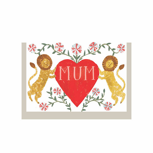 Hadley - Mothers Day Lion Heart card