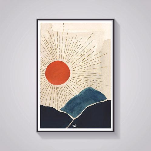 Nicola Rusted - 'Sun' Art Print