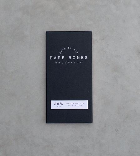 Bare Bones Chocolate - Dominican 68% Salted (vegan)