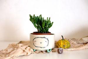 Isobel Higley Ceramics. Happy Planter 1.