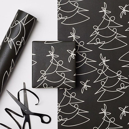 Black Tree Lines Gift Wrapped box (Free when you spend over £30)