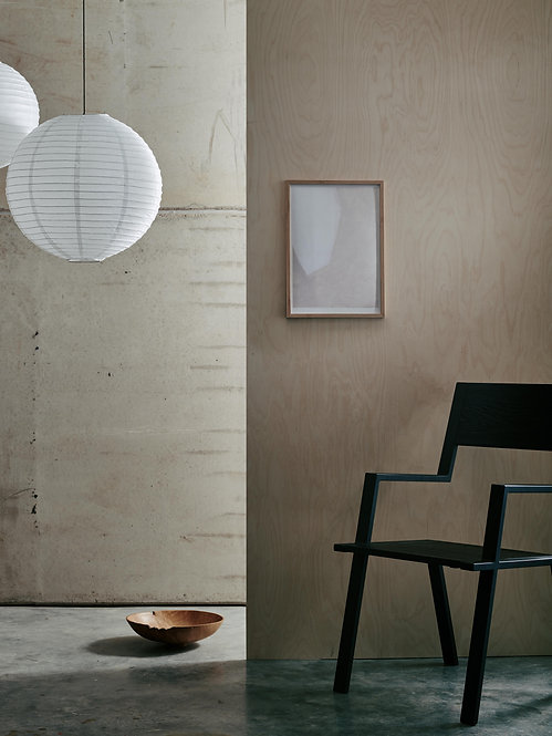 Nina.Lilli.Holden - White Abstract Shape Print A3