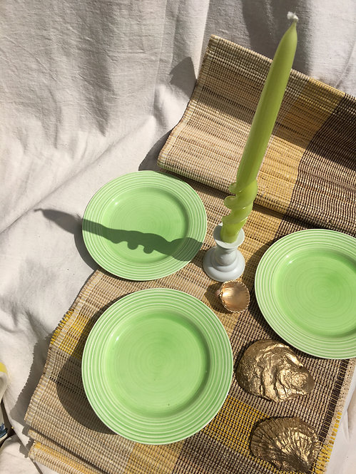 BCC - Vintage Green Small Plates (Set of 3)