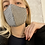 Thumbnail: Francesca Saffari - Gingham Reusable Mask | Dark Brown