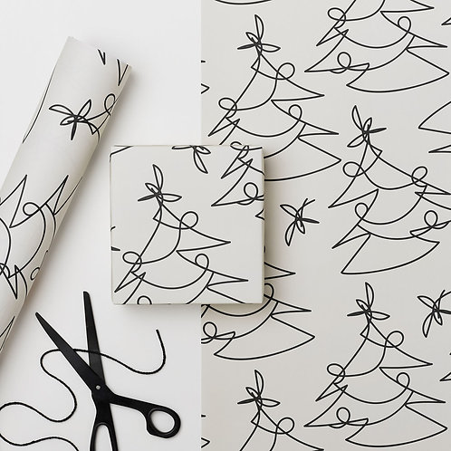 White Tree Lines Gift Wrapped box (Free when you spend over £30)