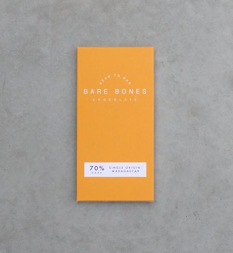 Bare Bones Chocolate - Madagascar 70% Dark (vegan)