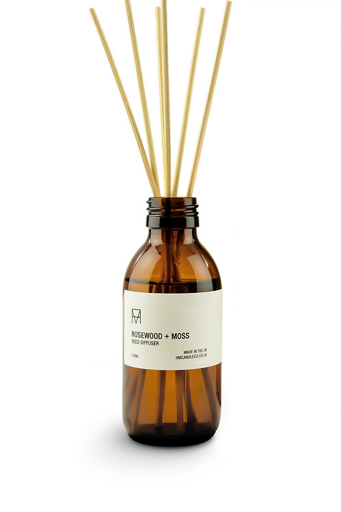 Handmade Candle Co - Rosewood + Moss Reed Diffuser
