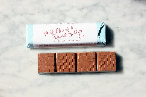 Diggle Chocolate - Milk Chocolate Peanut Butter Bar
