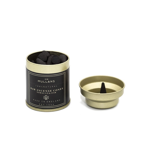 MR MULLAN'S - Raw Charcoal Incense Cones - Tabacco& Oak