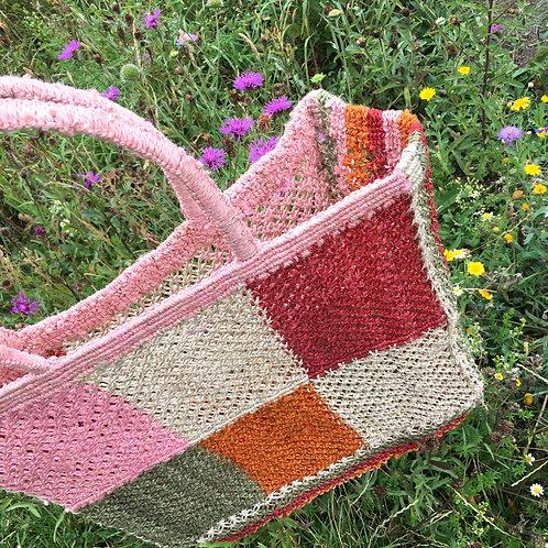 Zero-Living x Maison Bengal - Fair-trade Jute Macrame Patchwork Bag