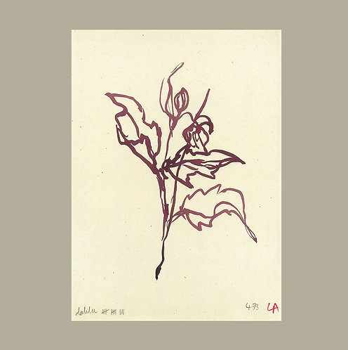 Lucy Augé - Dahlia Leaves Art Print