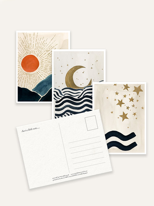 Nicola Rusted - 'Celestial' Postcards 6 Pack
