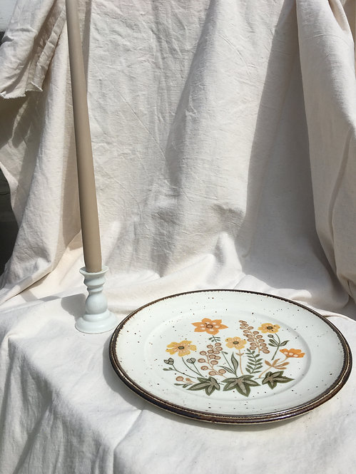BCC - Vintage Floral Painted Large Plate