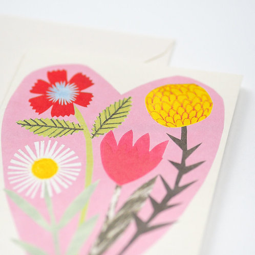 Hadley - Floral Heart Card