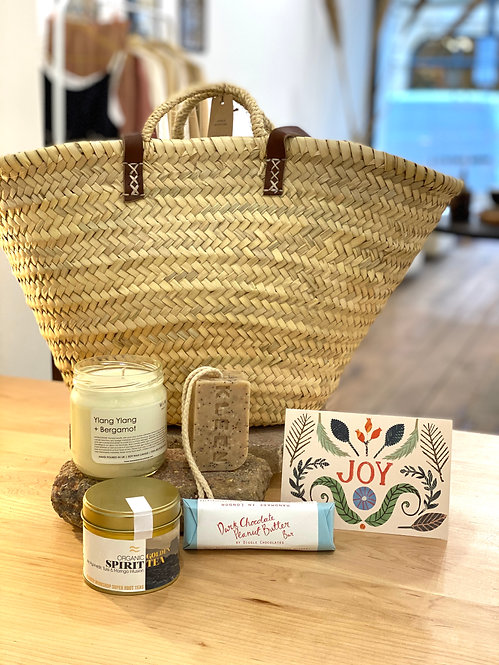 Sustainable Lifestyle Reusable Basket Gift Set - Joy, Smell, Drink + Eat,