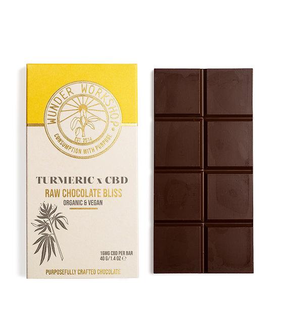 WUNDER WORKSHOP - Raw Chocolate Bliss Bar - Turmeric x CBD