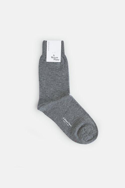 A Woven Plane - Marl Grey Socks