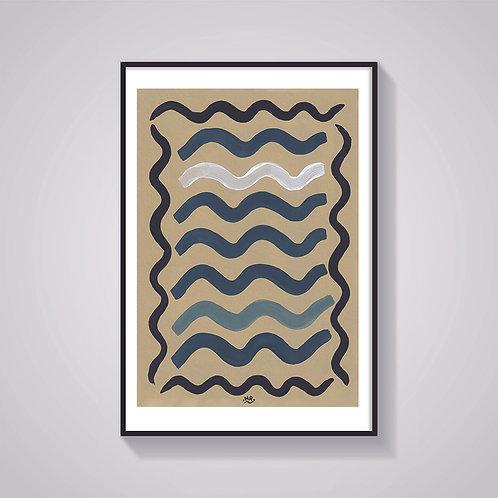 Nicola Rusted - 'Waves' Art Print