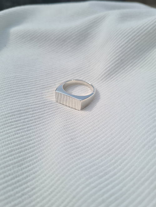 Tilly Sudsbury - Recycled Silver Block Signet Ring